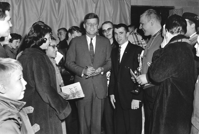 President John F. Kennedy visits Lakeland College in 1960