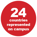 24 countries represented on campus
