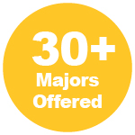 30+ Majors Offered