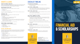 Financial aid brochure