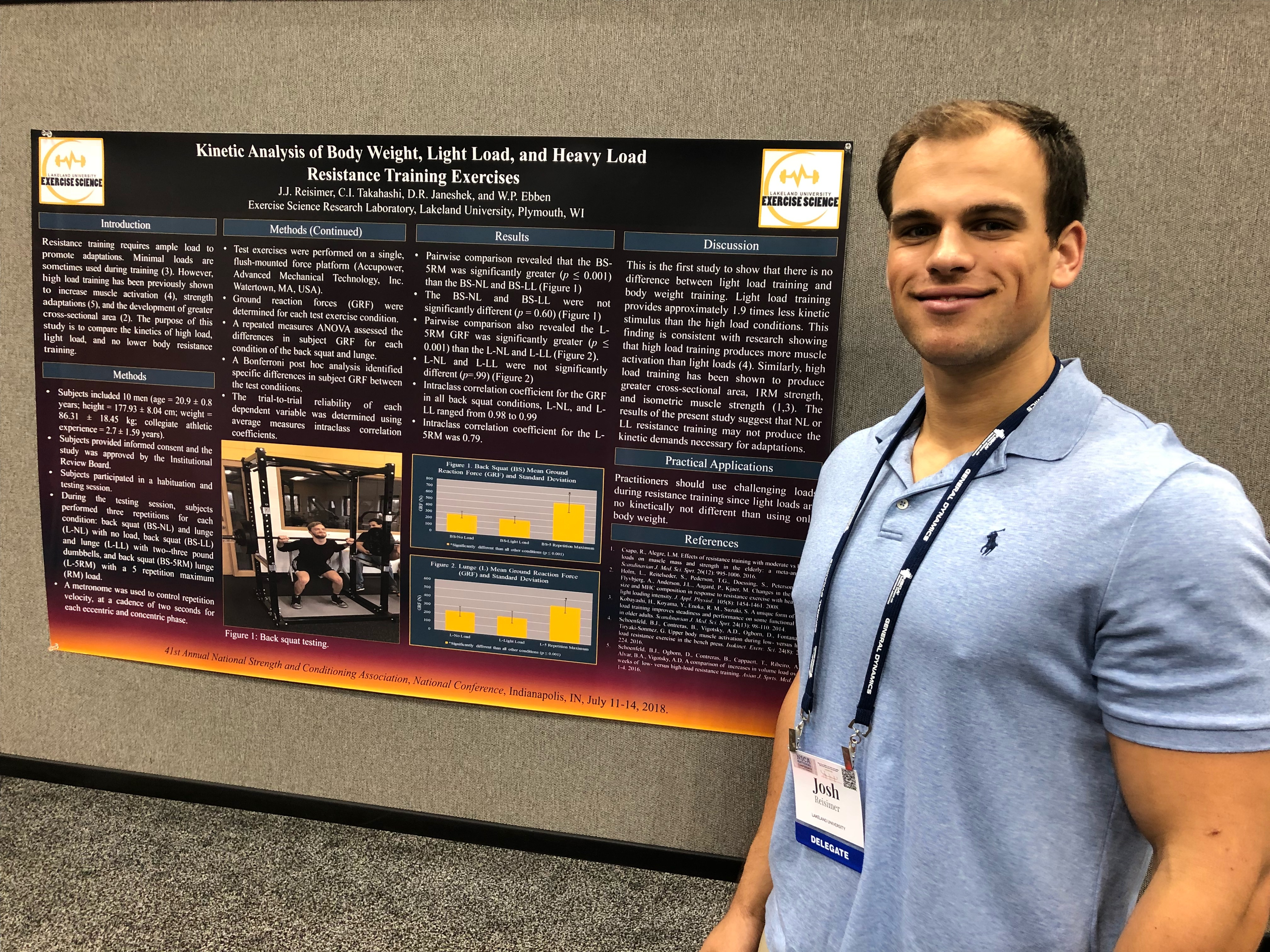 Exercise science students, grads present research - Lakeland