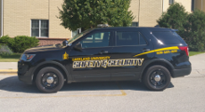 Lakeland campus security vehicle.