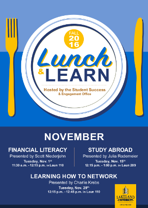 Lunch & Learn poster by Callah Kraus