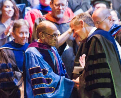J. Garland Schilcutt shakes hands with Dr. David Black