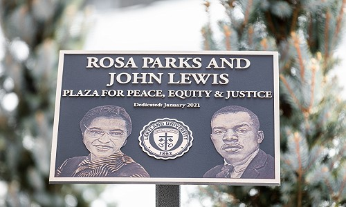 Parks and Lewis Plaza dedication highlights MLK celebration