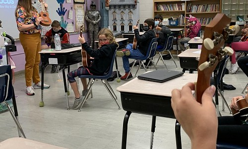 String theory: Sherrard Elementary students are learning ukulele