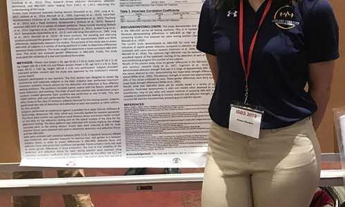 Exercise science students present at international conference