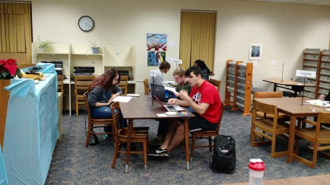 Experiential Education for Lakeland University's Writing Program. Students working on project.